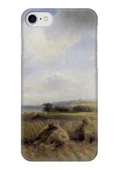 """Чехол для iPhone 7 глянцевый """"К концу лета на Волге"""" - картина, саврасов"""