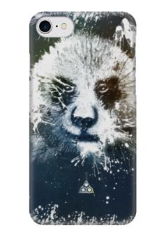 """Чехол для iPhone 7 глянцевый """"Сказочная панда """" - панда, panda"""