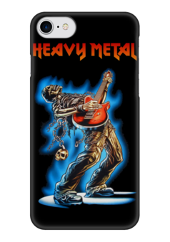 "Чехол для iPhone 7 глянцевый ""Heavy Metal"" - музыка, skull, череп, гитара, heavy metal"