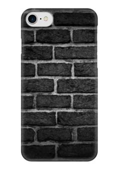 """Чехол для iPhone 7 глянцевый """"Кирпичный"""" - узор, рисунок, камень, кирпич, чтена"""