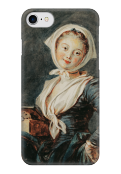 "Чехол для iPhone 7 глянцевый ""Девушка с сурком"" - картина, фрагонар"