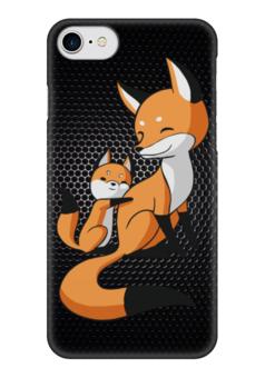 "Чехол для iPhone 7 глянцевый ""Лисички (fox)"" - fox, лиса"