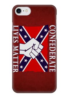 "Чехол для iPhone 7 глянцевый ""Флаг Конфедерации США"" - война, америка, флаг, сша, флаг конфедерации"