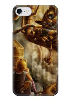 "Чехол для iPhone 7 глянцевый ""Алиса в стране чудес / стимпанк"" - алиса, steampunk, стимпанк, алиса в стране чудес, фентази"