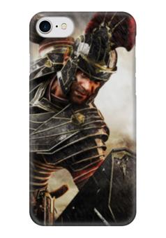 """Чехол для iPhone 7 глянцевый """"SPQR: Сенат и граждане Рима"""" - история, рим, путь воина, гесс, римская империя"""