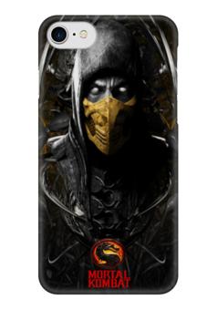 """Чехол для iPhone 7 глянцевый """"Mortal Kombat"""" - драки, скорпион, mortal kombat, битва, mk"""