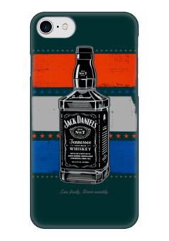 "Чехол для iPhone 7 глянцевый ""Jack Daniels"" - алкоголь, виски, whiskey, alcohol, jack daniels"