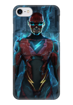 """Чехол для iPhone 7 глянцевый """"Флэш (Flash)"""" - flash, комиксы, dc comics, justice league, лига справедливости"""