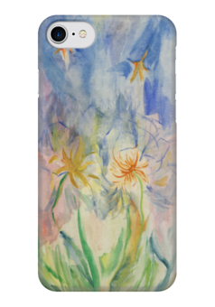 "Чехол для iPhone 7 глянцевый ""Watercolor"" - цветы, дизайн, акварель, watercolor"