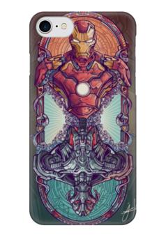 """Чехол для iPhone 7 глянцевый """"Мстители"""" - комиксы, железный человек, iron man, альтрон, ultron"""