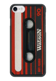 """Чехол для iPhone 7 глянцевый """"Кассета"""" - кассеты, 90-е"""