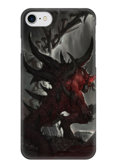 "Чехол для iPhone 7 глянцевый ""Diablo"" - blizzard, диабло, пещера, близзард"