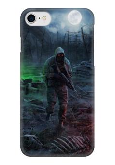 """Чехол для iPhone 7 глянцевый """"S.T.A.L.K.E.R"""" - сталкер, stalker"""