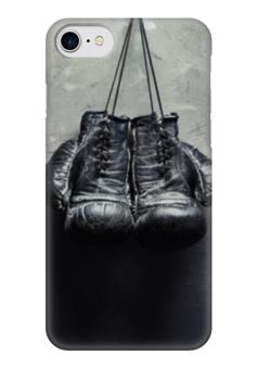 """Чехол для iPhone 7 глянцевый """"Боксерские перчатки"""" - бокс, боксеру"""