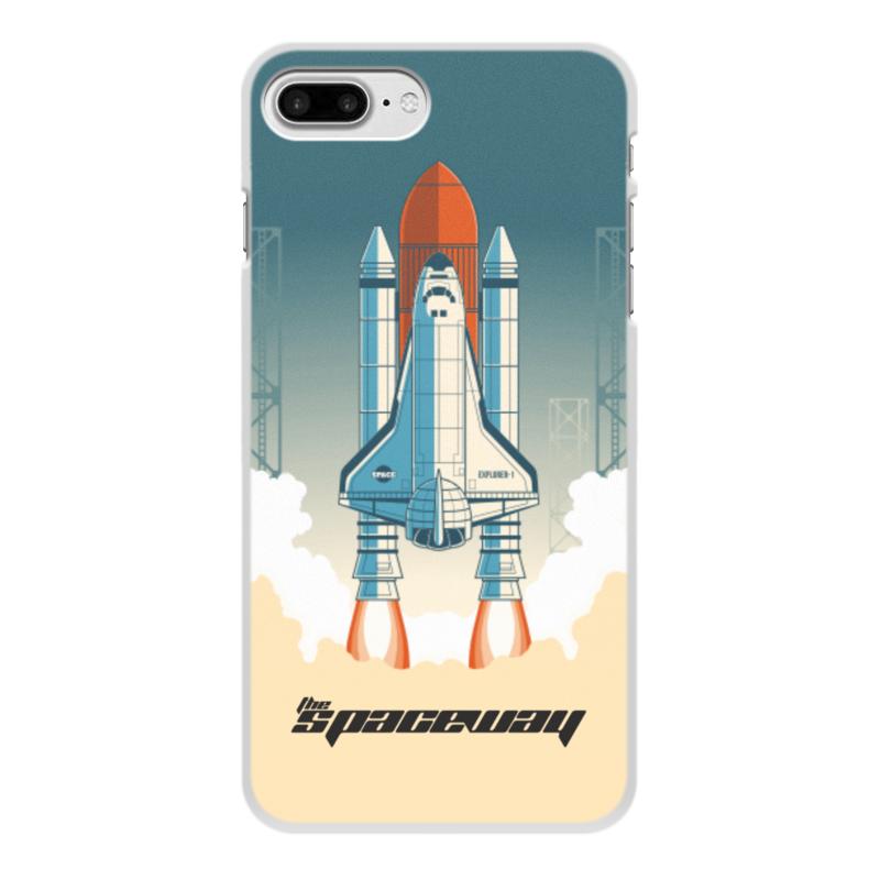 Чехол для iPhone 7 Plus, объёмная печать Printio Покорение космоса