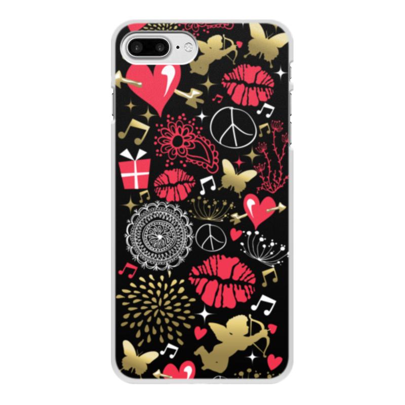 Чехол для iPhone 7 Plus, объёмная печать Printio Валентинка чехол для iphone 7 plus mitya veselkov сердца растения