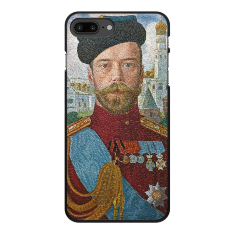 лучшая цена Чехол для iPhone 7 Plus, объёмная печать Printio Царь николай ii (борис кустодиев)