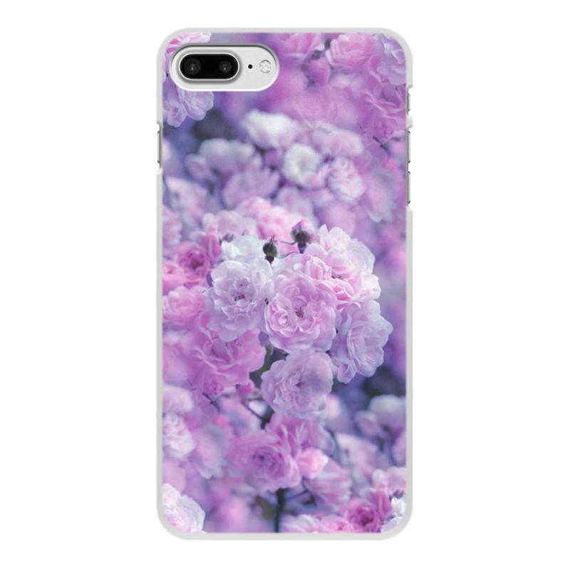 Чехол для iPhone 7 Plus, объёмная печать Printio Цветы цена 2017