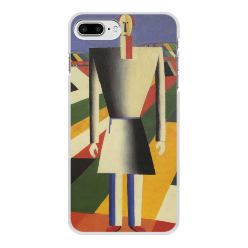 лучшая цена Чехол для iPhone 7 Plus, объёмная печать Printio Крестьянин в поле (казимир малевич)