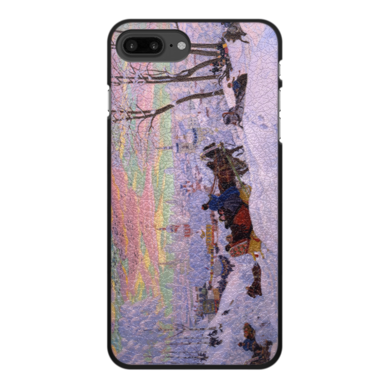 Чехол для iPhone 7 Plus, объёмная печать Printio Масленица (кустодиев) галактическая масленица
