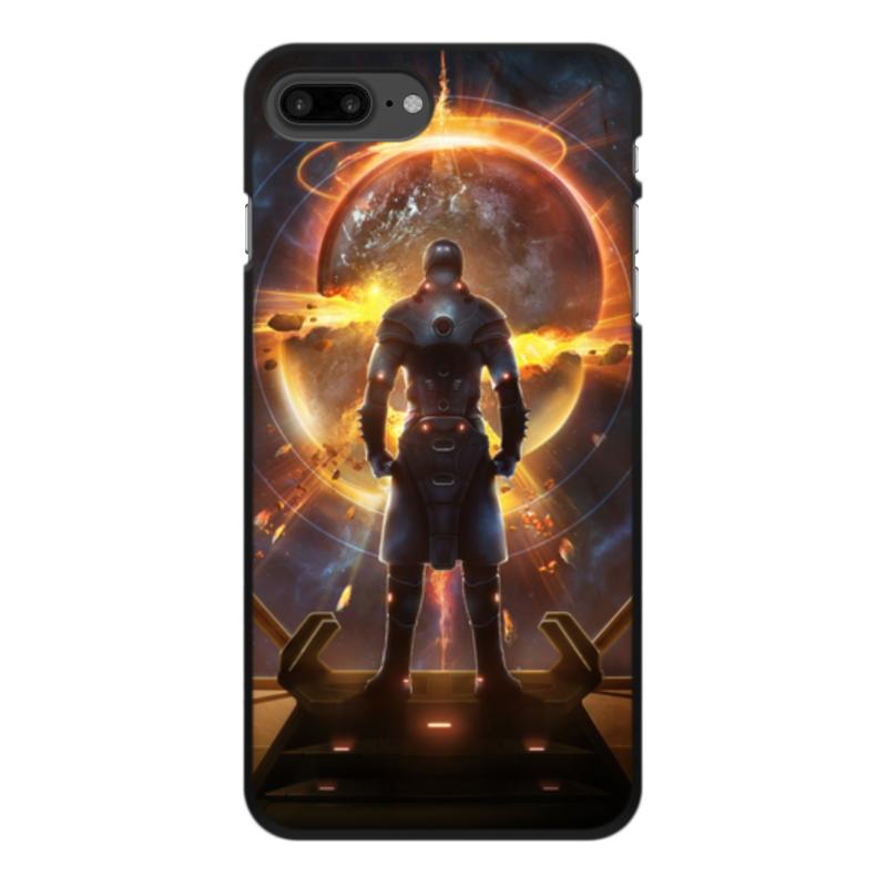 лучшая цена Чехол для iPhone 7 Plus, объёмная печать Printio Starpoint gemini warlords