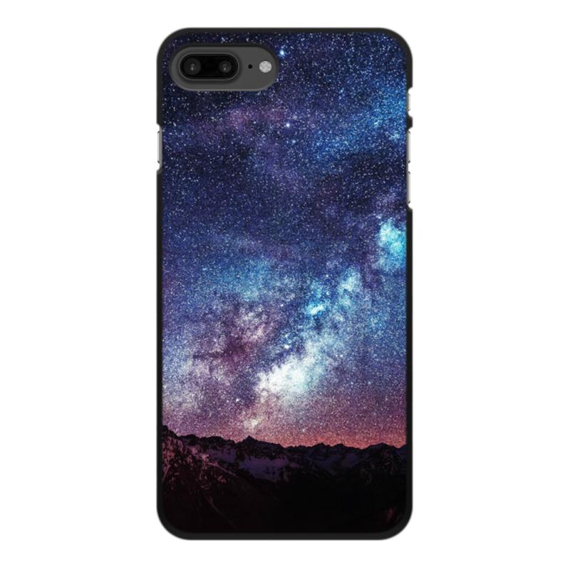 Чехол для iPhone 7 Plus, объёмная печать Printio Космос цена 2017