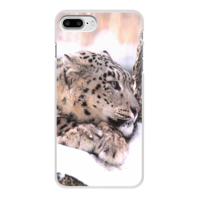 цена на Чехол для iPhone 7 Plus, объёмная печать Printio Снежный барс