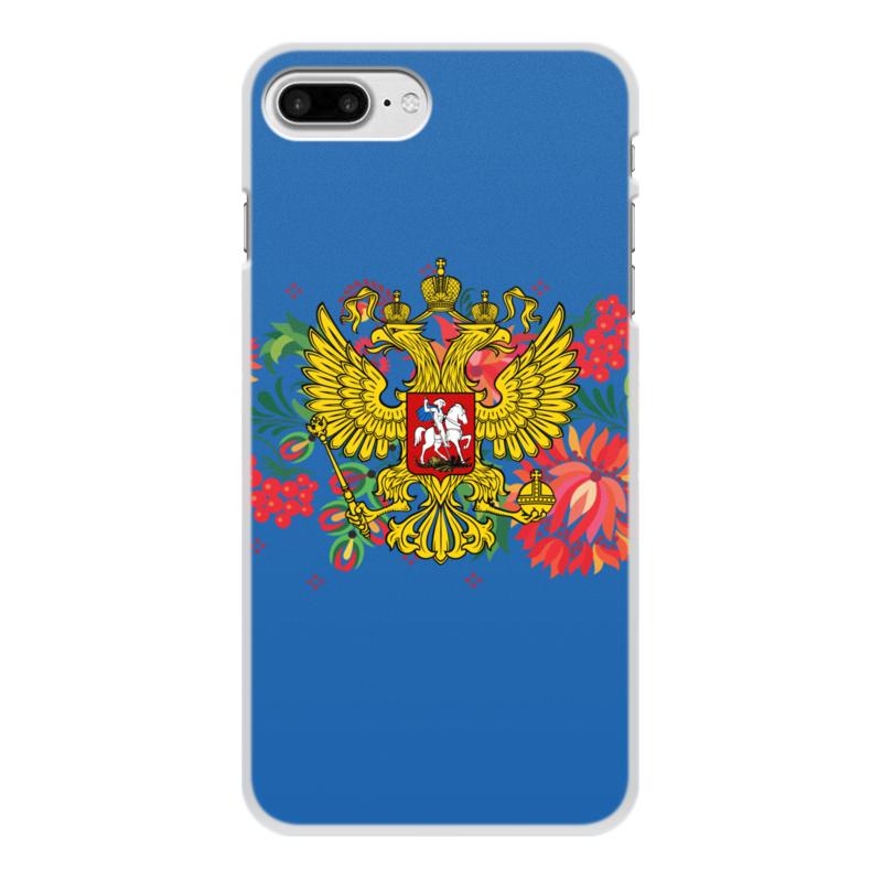 Чехол для iPhone 7 Plus, объёмная печать Printio Герб рф цена и фото
