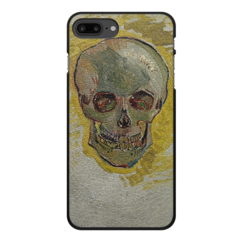 Чехол для iPhone 7 Plus, объёмная печать Printio Череп ii (винсент ван гог) цена и фото