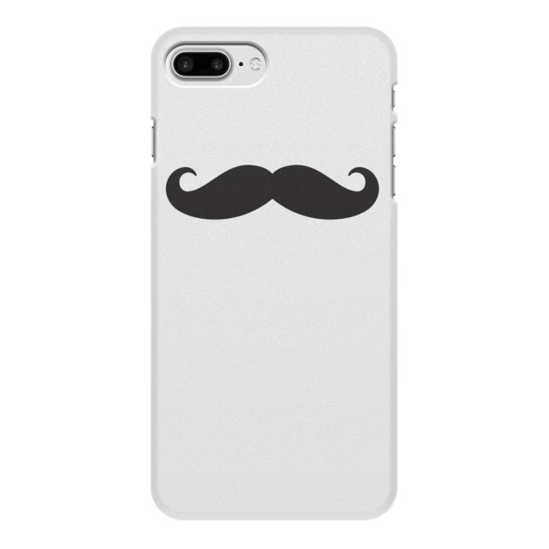 Чехол для iPhone 7 Plus, объёмная печать Printio Усы.. чехол soft touch для iphone 7 plus df islim 06