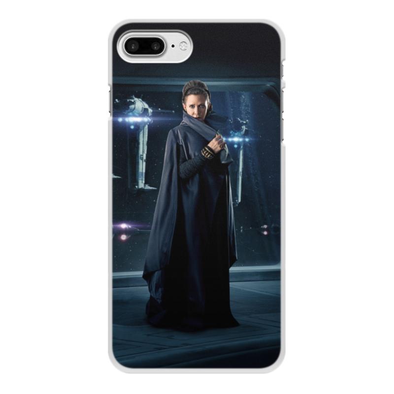 Чехол для iPhone 7 Plus, объёмная печать Printio Звездные войны - лея