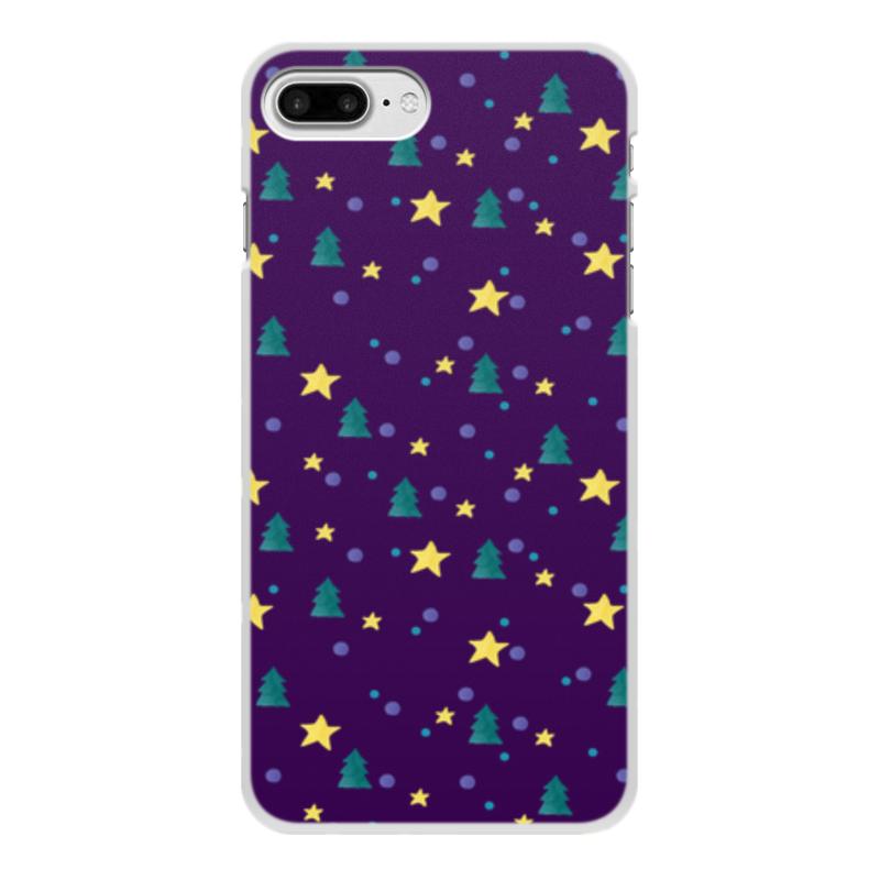 Чехол для iPhone 7 Plus, объёмная печать Printio Елки и звезды