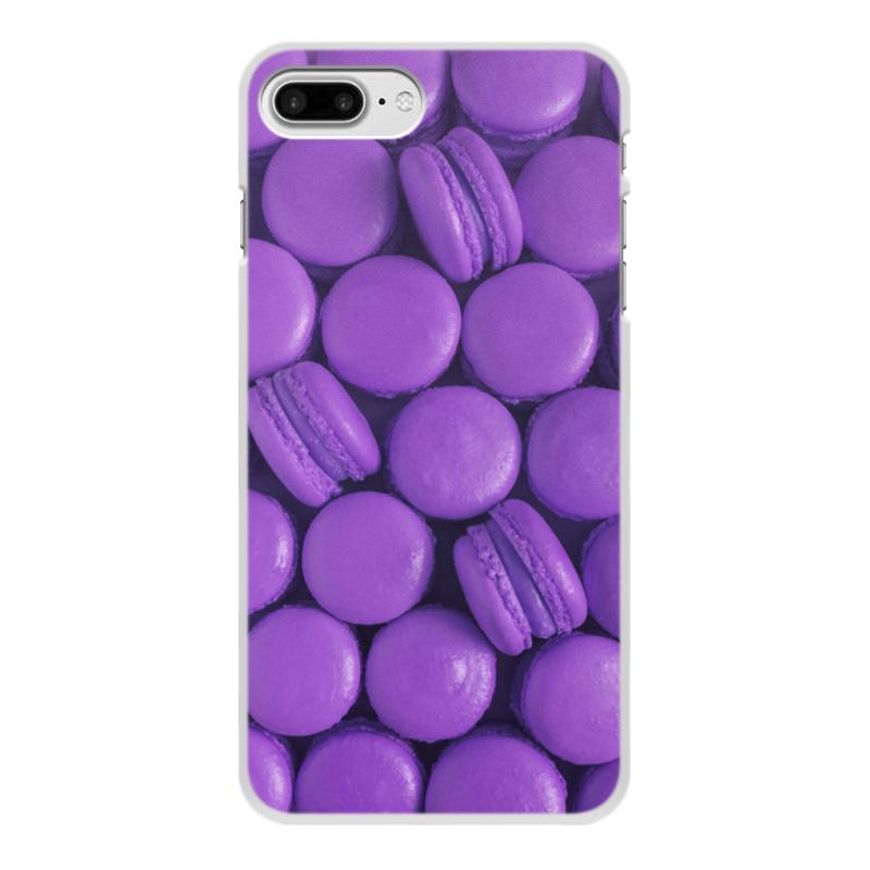 Чехол для iPhone 7 Plus, объёмная печать Printio Пирожные макаронс фиолетовые