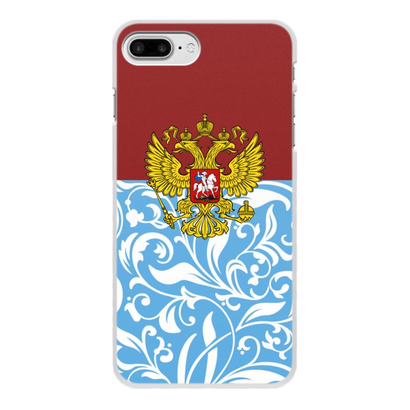 Чехол для iPhone 7 Plus, объёмная печать Printio Цветы и герб цена и фото