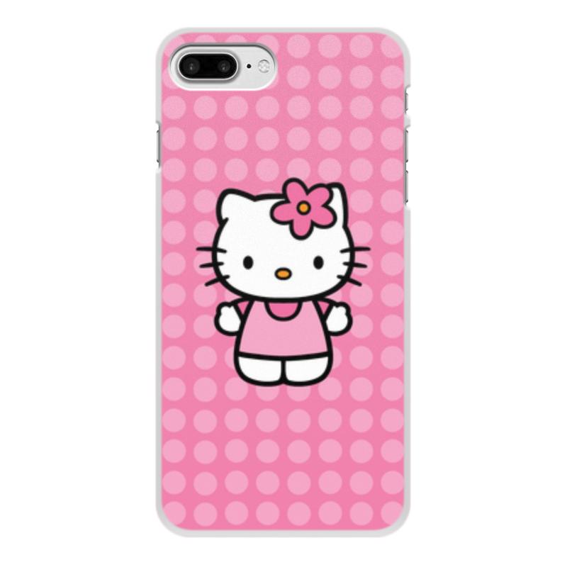 Чехол для iPhone 7 Plus, объёмная печать Printio Kitty в горошек брюки дудочки 7 8 с жаккардовым рисунком в горошек