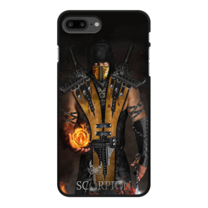 Чехол для iPhone 7 Plus, объёмная печать Printio Mortal kombat (scorpion) чехол для iphone 5 5s объёмная печать printio mortal kombat scorpion