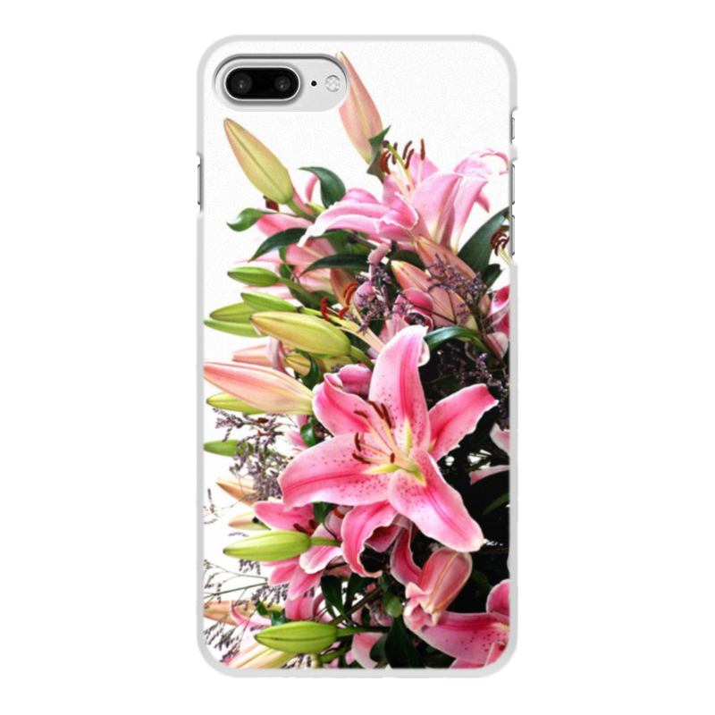 Чехол для iPhone 7 Plus, объёмная печать Printio Цветы 0 7 мм ультра тонкий тонкий алюминиевый металлический бампер рамка чехол для iphone 5 5с