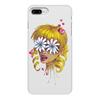 """Чехол для iPhone 7 Plus, объёмная печать """"Без ума от цветов"""" - любовь, девушка, цветы, сердца, блондинка"""