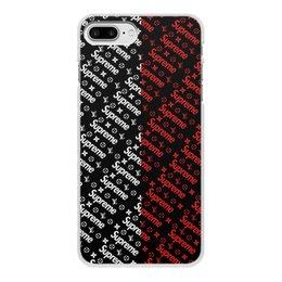 """Чехол для iPhone 7 Plus, объёмная печать """"Supreme"""" - узор, надписи, бренд, supreme, суприм"""
