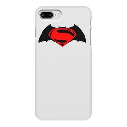 """Чехол для iPhone 7 Plus, объёмная печать """"бетмен"""" - бетмен, бетман"""
