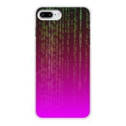 "Чехол для iPhone 7 Plus, объёмная печать ""Матрица"" - компьютеры, матрица, код, программа, пароль"