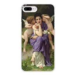 "Чехол для iPhone 7 Plus, объёмная печать ""Песни весны (картина Вильяма Бугро)"" - картина, академизм, живопись, мифология, бугро"