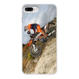 """Чехол для iPhone 7 Plus, объёмная печать """"Мото КТМ 2"""" - мото, байк, кросс, ктм"""