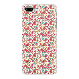 """Чехол для iPhone 7 Plus, объёмная печать """"Пейсли (Яркий)"""" - пейсли, цветы, цветок, лепесток, узор"""