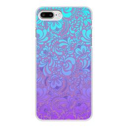 """Чехол для iPhone 7 Plus, объёмная печать """"Мираж"""" - рисунок, роспись, гжель"""