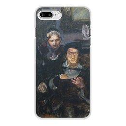 """Чехол для iPhone 7 Plus, объёмная печать """"Гамлет и Офелия (картина Михаила Врубеля)"""" - картина, живопись, шекспир, литература, врубель"""