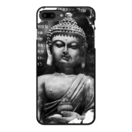 """Чехол для iPhone 7 Plus, объёмная печать """"Будда (Письмена)"""" - философия, buddha, будда, буддизм, духовность"""