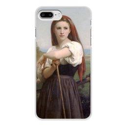 "Чехол для iPhone 7 Plus, объёмная печать ""Юная пастушка (картина Вильяма Бугро)"" - картина, академизм, живопись, бугро, крестьянка"