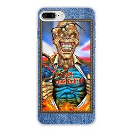 "Чехол для iPhone 7 Plus, объёмная печать ""Iron Maiden patch"" - heavy metal, рок музыка, рок группа, iron maiden, eddie"