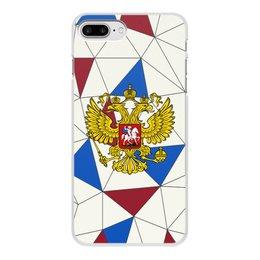 """Чехол для iPhone 7 Plus, объёмная печать """"Без названия"""" - русский, россия, герб, орел, флаг"""